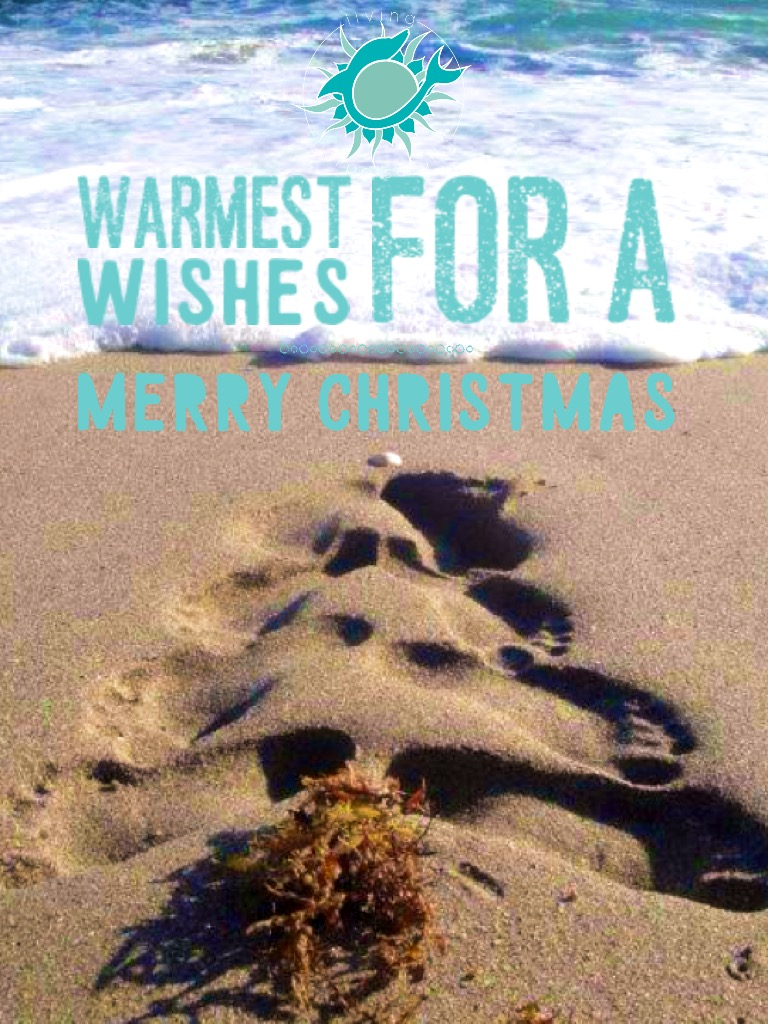 living porpoisefully image quote: footprints in the sand Christmas tree