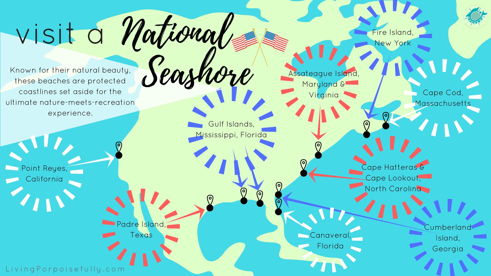 Visit A National Seashore Interactive Map Living Porpoisefully