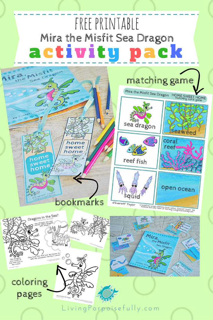 Mira, the Misfit Sea Dragon Printable Activity Pack (free!) – Living ...