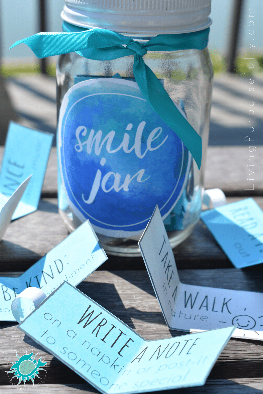 Smile Jar Of Activities For Kids Free Printable Living Porpoisefully